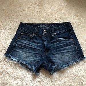 American Eagle hi rise festival denim shorts